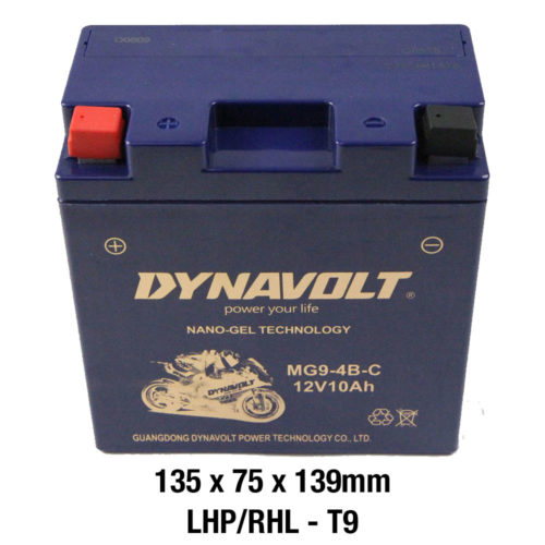 DYNAVOLT Gel Series MG9-4B-C/CB9-B CTN6 MOTORCYCLE BATTERY AUSTRALIA