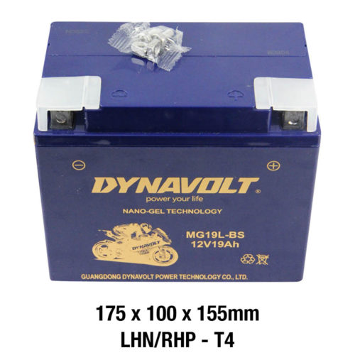 DYNAVOLT Gel Series MG19L-BS CTN4 MOTORCYCLE BATTERY AUSTRALIA