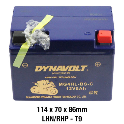 DYNAVOLT Gel Series MG4HL-BS-C CTN9 MOTORCYCLE BATTERY AUSTRALIA