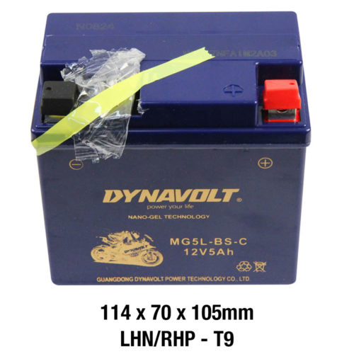 DYNAVOLT Gel Series MG5L-BS-C CTN9 MOTORCYCLE BATTERY AUSTRALIA