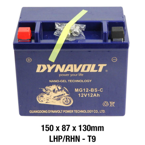 DYNAVOLT Gel Series MG12-BS-C MOTORCYCLE BATTERY AUSTRALIA