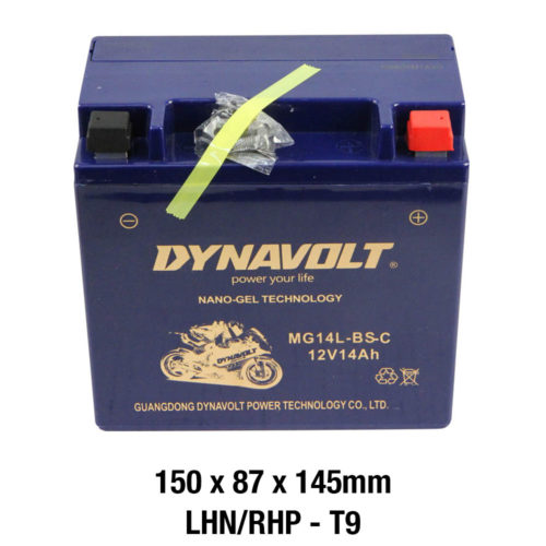 DYNAVOLT Gel Series MG14L-BS-C MOTORCYCLE BATTERY AUSTRALIA
