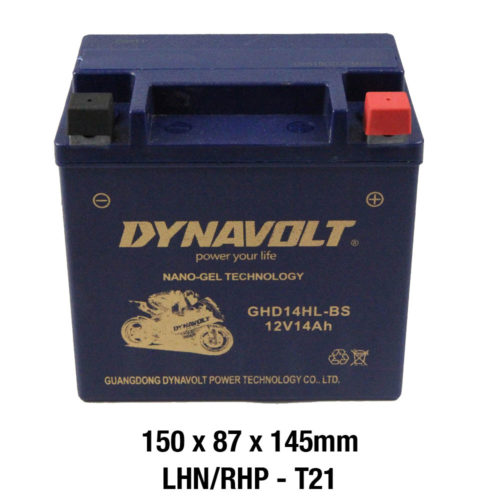 DYNAVOLT Gel Series GHD14HL-BS MOTORCYCLE BATTERY AUSTRALIA