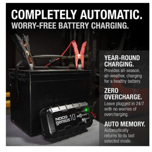 Dynavolt NOCO Battery Charger 10Amp 612vLithRe2 Motorcycle Battery Charger Australia